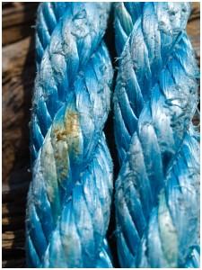 Blue rope.